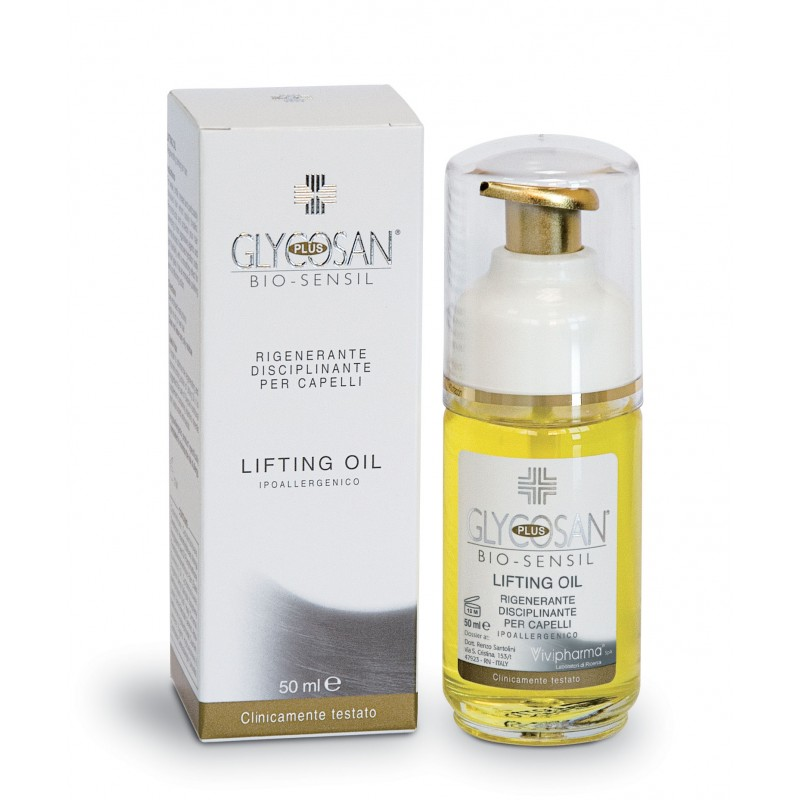 GLYCOSAN PLUS BIO-SENSIL LIFTING OIL FOR REGENERATING AND DISCIPLINING HAIR