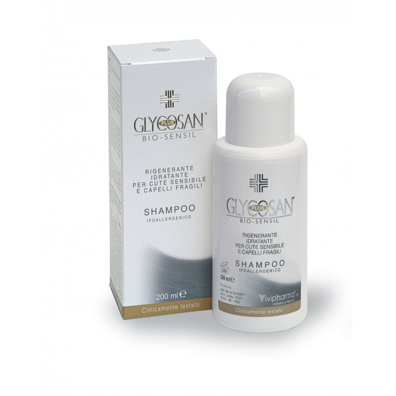 GLYCOSAN PLUS BIO-SENSIL REGENERATING AND MOISTURIZING SHAMPOO