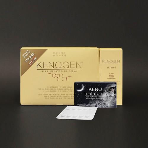 Offerta Kenogen alla Melatonina DONNA trattamento intensivo anticaduta allungamento infoltimento